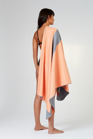 orange microfibre beach towel - anaskela