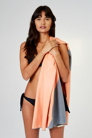 ecofriendly orange beach towel - anaskela