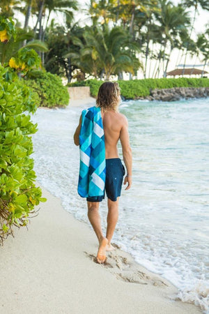 blue patterned ecotowel - anaskela