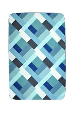 blue patterned kids beach towel - anaskela