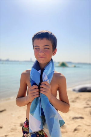 sustainable patterned kids towel - anaskela