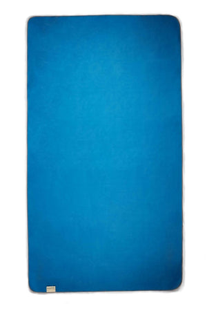 blue sustainable beach towel - anaskela