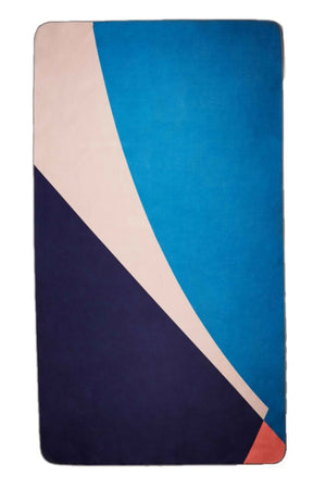 blue eco friendly beach towel - anaskela