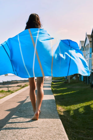 blue quickdry beach towel - anaskela
