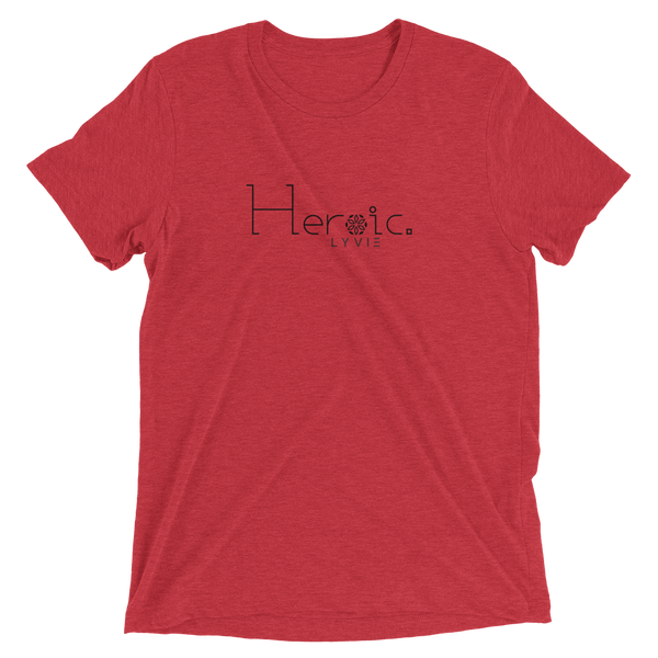 Heroic triblend T-shirt - Red - L Y V E L Y - streetwear - activewear - lifestyle - inspirational - urban apparel - supply - casual