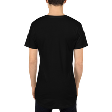 Load image into Gallery viewer, Embroidered  Logo Long Body Urban Tee - Black - L Y V E L Y - streetwear - activewear - lifestyle - inspirational - urban apparel - supply - casual