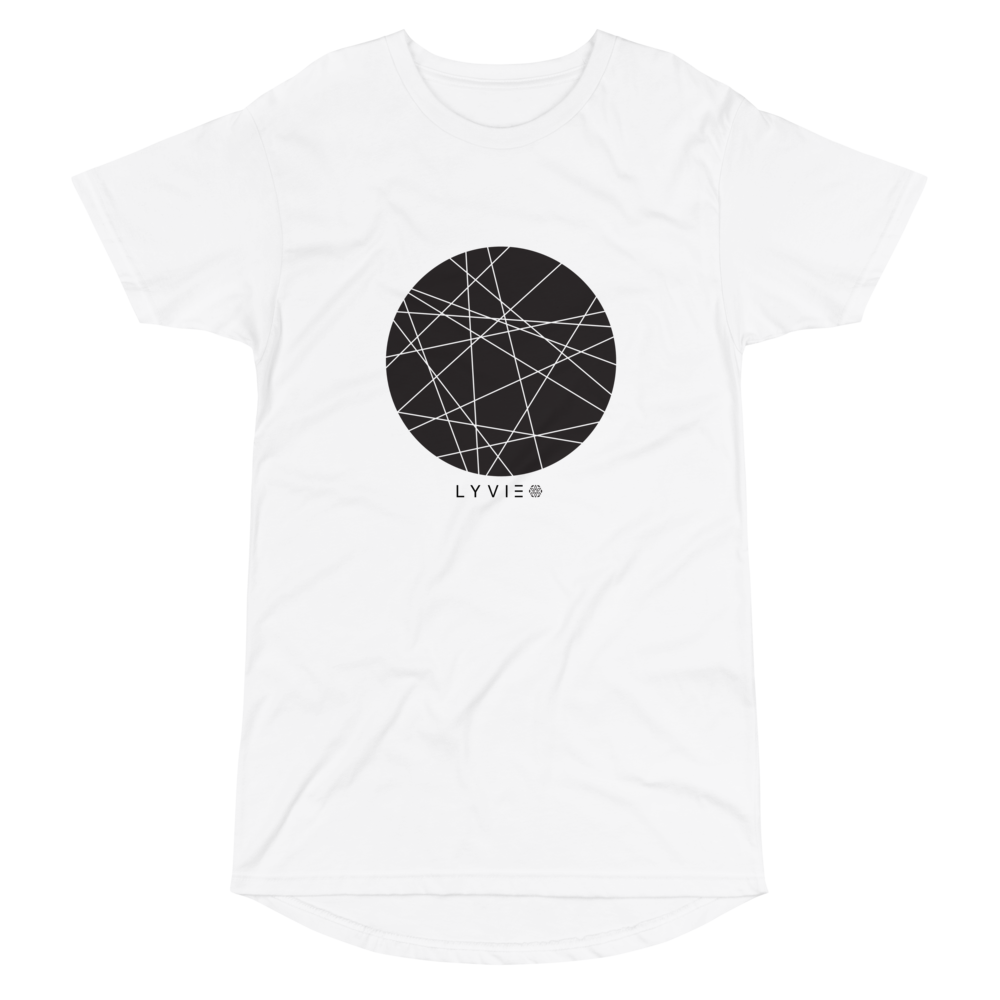 Moon By LYVIE Long Body Urban Tee - White - L Y V E L Y - streetwear - activewear - lifestyle - inspirational - urban apparel - supply - casual
