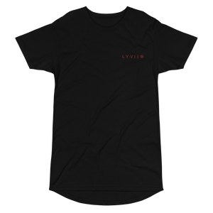 Embroidered  Logo Long Body Urban Tee - Black - L Y V E L Y - streetwear - activewear - lifestyle - inspirational - urban apparel - supply - casual