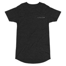 Load image into Gallery viewer, Embroidered Logo Long Body Urban Tee - Dark Grey Heather - L Y V E L Y - streetwear - activewear - lifestyle - inspirational - urban apparel - supply - casual