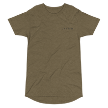 Load image into Gallery viewer, Embroidered  Logo Long Body Urban Tee - Heather Olive - L Y V E L Y - streetwear - activewear - lifestyle - inspirational - urban apparel - supply - casual