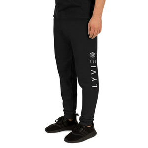LYVIE Logo Joggers - Black / White - L Y V E L Y - streetwear - activewear - lifestyle - inspirational - urban apparel - supply - casual