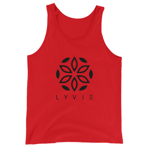 Large Logo Tank Top - Red / Black - L Y V E L Y - streetwear - activewear - lifestyle - inspirational - urban apparel - supply - casual