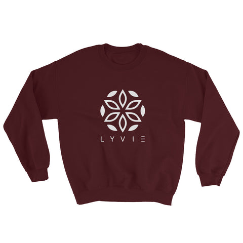 Basic Crewneck Sweater - Burgundy / White - L Y V E L Y - streetwear - activewear - lifestyle - inspirational - urban apparel - supply - casual