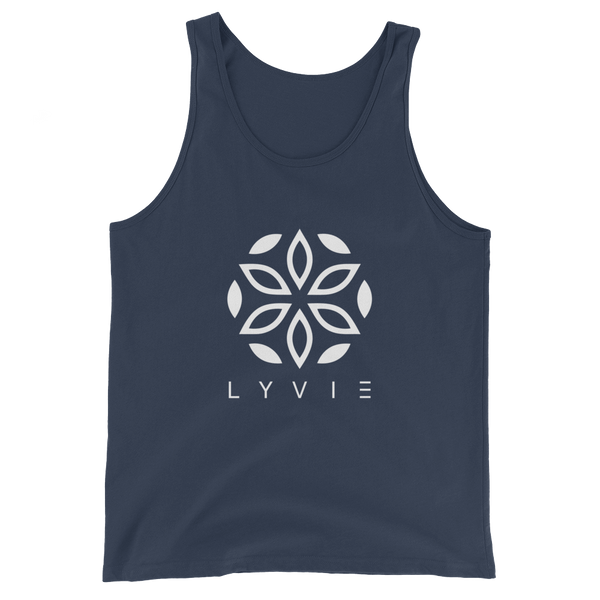 Large Logo Tank Top - Navy Blue / White - L Y V E L Y - streetwear - activewear - lifestyle - inspirational - urban apparel - supply - casual
