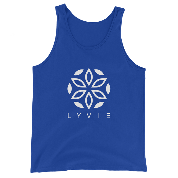 Large Logo Tank Top - Royal Blue / White - L Y V E L Y - streetwear - activewear - lifestyle - inspirational - urban apparel - supply - casual