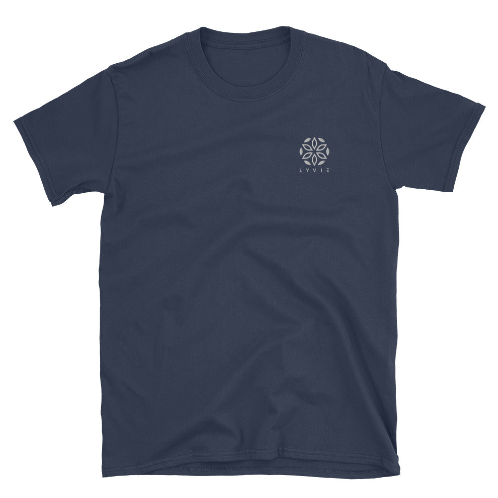 Basic Embroidered Logo T-Shirt - Navy - L Y V E L Y - streetwear - activewear - lifestyle - inspirational - urban apparel - supply - casual