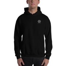 Load image into Gallery viewer, Embroidered Logo Hoodie - Black / White - L Y V E L Y - streetwear - activewear - lifestyle - inspirational - urban apparel - supply - casual