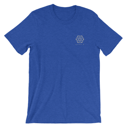Basic Embroidered Logo T-Shirt - Heather Royal Blue - L Y V E L Y - streetwear - activewear - lifestyle - inspirational - urban apparel - supply - casual