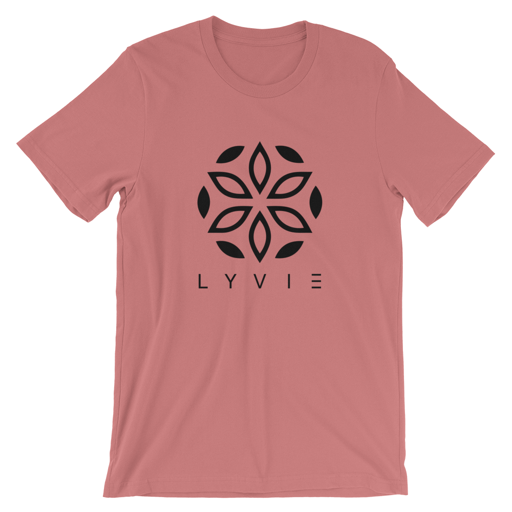 Large Logo Crew Neck T-Shirt - Rose Dust - L Y V E L Y - streetwear - activewear - lifestyle - inspirational - urban apparel - supply - casual