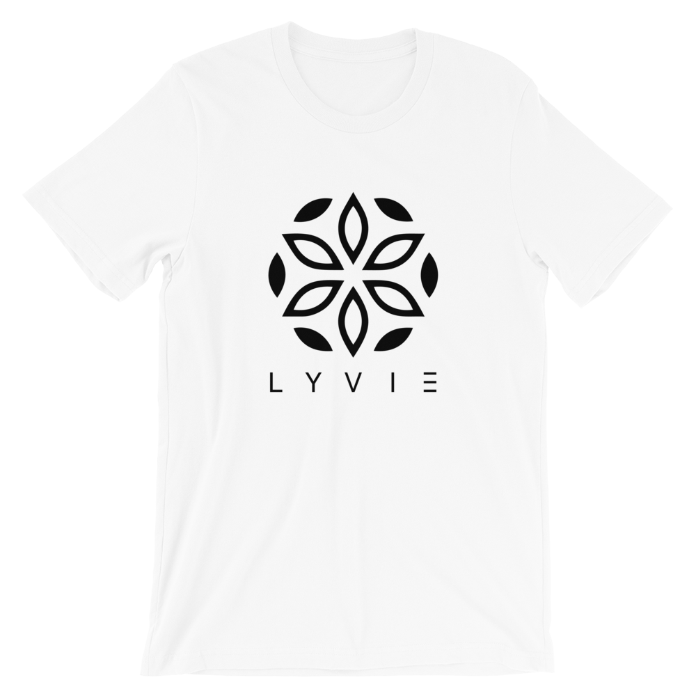 Large Logo Crew Neck T-Shirt - White - L Y V E L Y - streetwear - activewear - lifestyle - inspirational - urban apparel - supply - casual
