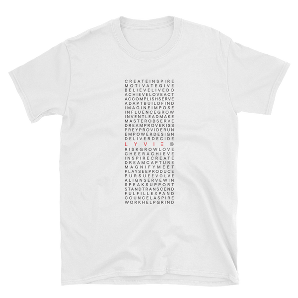 Square of Inspiration T-Shirt - White - L Y V E L Y - streetwear - activewear - lifestyle - inspirational - urban apparel - supply - casual