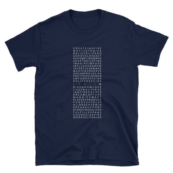 Square of Inspiration T-Shirt - Navy Blue - L Y V E L Y - streetwear - activewear - lifestyle - inspirational - urban apparel - supply - casual