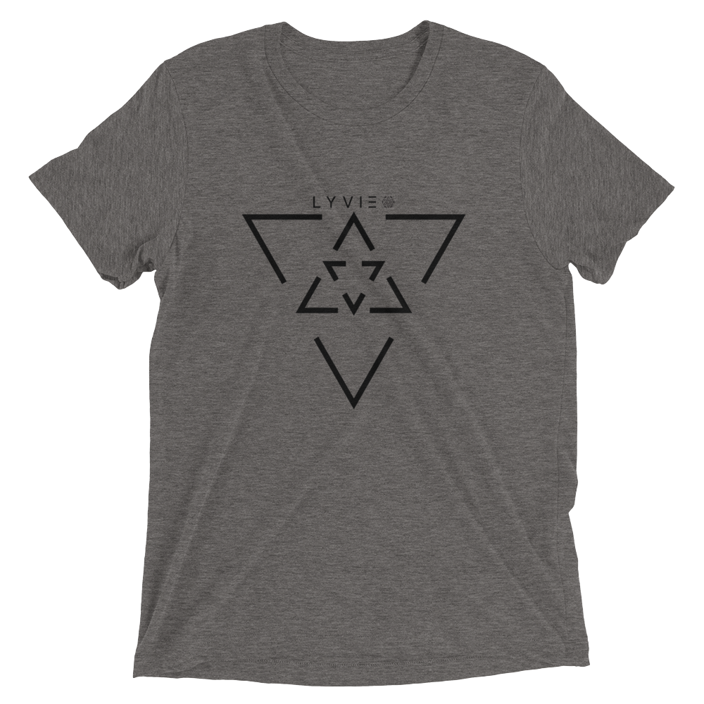 LYVIE Triangle Target T-shirt - Grey - L Y V E L Y - streetwear - activewear - lifestyle - inspirational - urban apparel - supply - casual