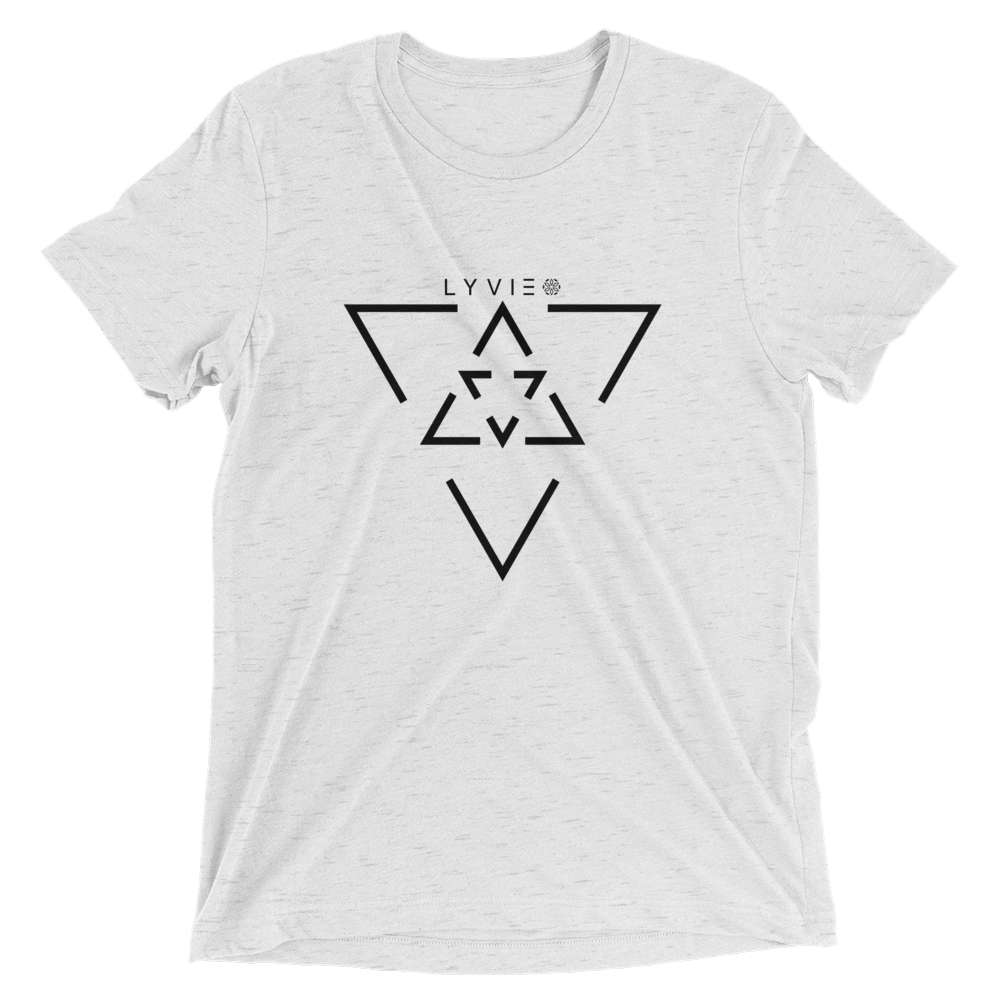 LYVIE Triangle Target T-shirt - White - L Y V E L Y - streetwear - activewear - lifestyle - inspirational - urban apparel - supply - casual
