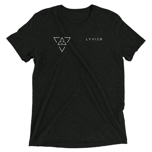 LYVIE Small Triangle Target Tee - Charcoal Black - L Y V E L Y - streetwear - activewear - lifestyle - inspirational - urban apparel - supply - casual