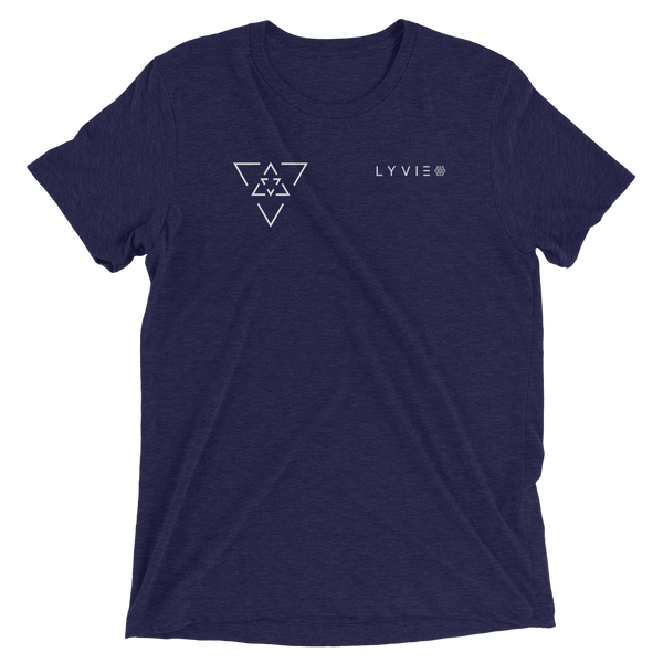 LYVIE Small Triangle Target T-shirt - Navy - L Y V E L Y - streetwear - activewear - lifestyle - inspirational - urban apparel - supply - casual