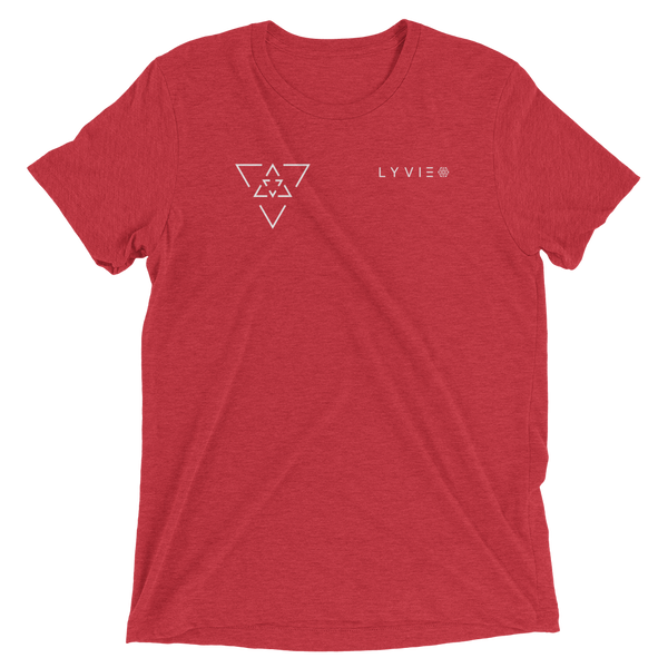 LYVIE Small Triangle Target T-shirt - Red - L Y V E L Y - streetwear - activewear - lifestyle - inspirational - urban apparel - supply - casual