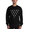 Triangle Crewneck Sweater - Black / White - L Y V E L Y - streetwear - activewear - lifestyle - inspirational - urban apparel - supply - casual