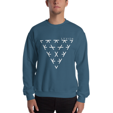 Load image into Gallery viewer, Triangle Crewneck Sweater - Indigo Blue / White - L Y V E L Y - streetwear - activewear - lifestyle - inspirational - urban apparel - supply - casual