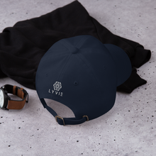 Load image into Gallery viewer, Spacer Dad hat - Navy Blue / White - L Y V E L Y - streetwear - activewear - lifestyle - inspirational - urban apparel - supply - casual