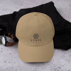 LYVIE logo Dad hat - Khaki - L Y V E L Y - streetwear - activewear - lifestyle - inspirational - urban apparel - supply - casual