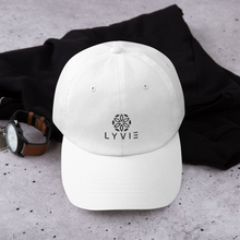 Load image into Gallery viewer, LYVIE logo Dad hat - White - L Y V E L Y - streetwear - activewear - lifestyle - inspirational - urban apparel - supply - casual