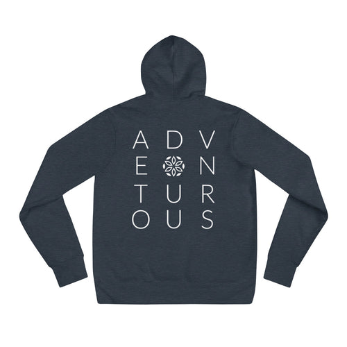 Adventurous Hoodie - Heather Navy / White - L Y V E L Y - streetwear - activewear - lifestyle - inspirational - urban apparel - supply - casual