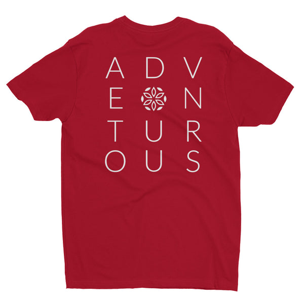 Adventurous Short-Sleeve T-Shirt - Red / White - L Y V E L Y - streetwear - activewear - lifestyle - inspirational - urban apparel - supply - casual