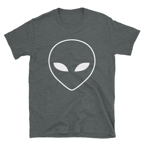 Alien Head Short-Sleeve T-Shirt - Dark Heather / White - L Y V E L Y - streetwear - activewear - lifestyle - inspirational - urban apparel - supply - casual