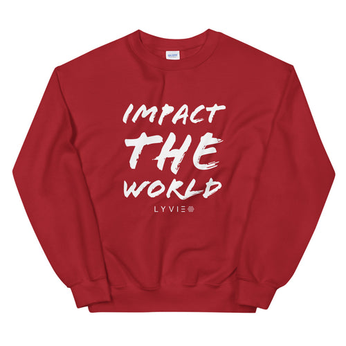 Impact The World Sweater - Red / White - L Y V E L Y - streetwear - activewear - lifestyle - inspirational - urban apparel - supply - casual