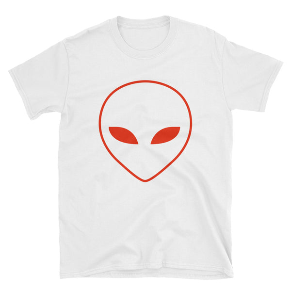 Alien Head Short-Sleeve T-Shirt - White / Red - L Y V E L Y - streetwear - activewear - lifestyle - inspirational - urban apparel - supply - casual