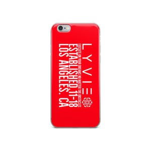 Execute On Your Dreams iPhone Case - Red / White - L Y V E L Y - streetwear - activewear - lifestyle - inspirational - urban apparel - supply - casual