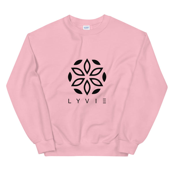 Basic Crewneck Sweater - Light Pink / Black - L Y V E L Y - streetwear - activewear - lifestyle - inspirational - urban apparel - supply - casual