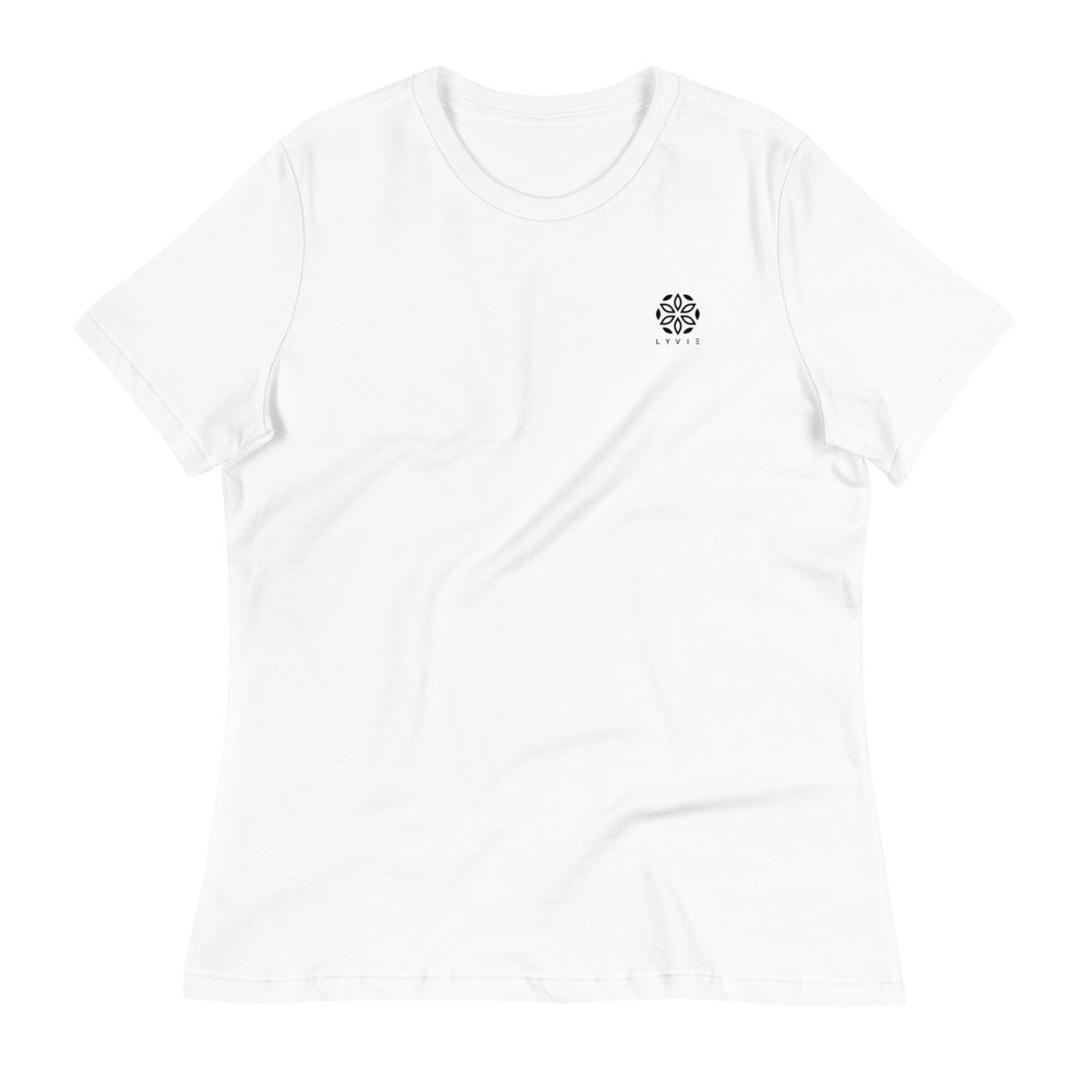 Enlightened Women's Relaxed T-Shirt - White - L Y V E L Y - streetwear - activewear - lifestyle - inspirational - urban apparel - supply - casual