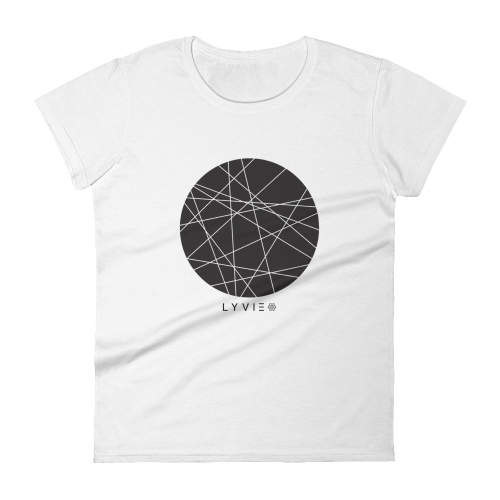 Moon by LYVIE Women's T-shirt - White