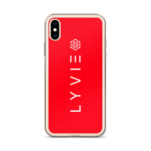 Logo iPhone Case - Red - L Y V E L Y - streetwear - activewear - lifestyle - inspirational - urban apparel - supply - casual
