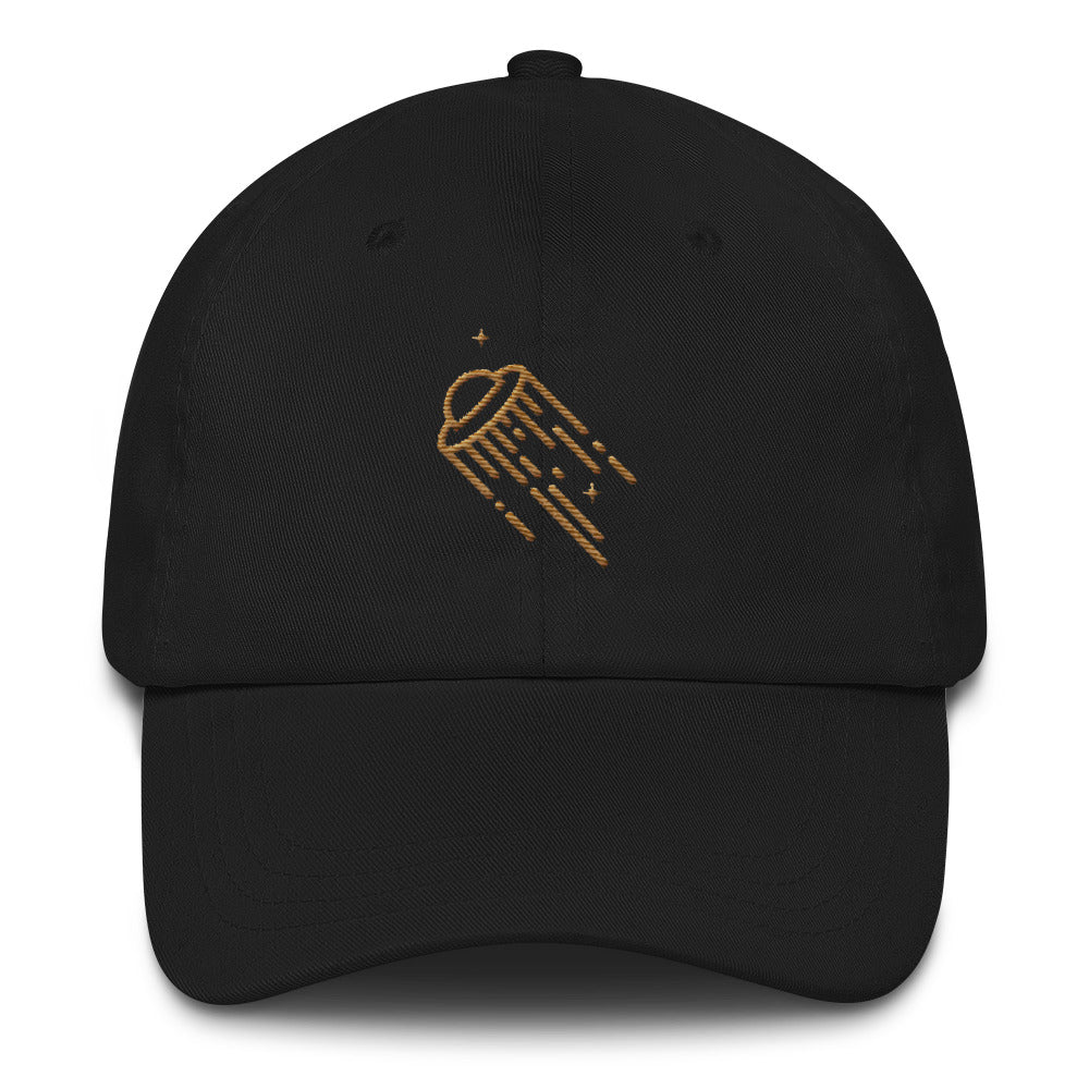 Spacer Dad hat - Black / Gold - L Y V E L Y - streetwear - activewear - lifestyle - inspirational - urban apparel - supply - casual