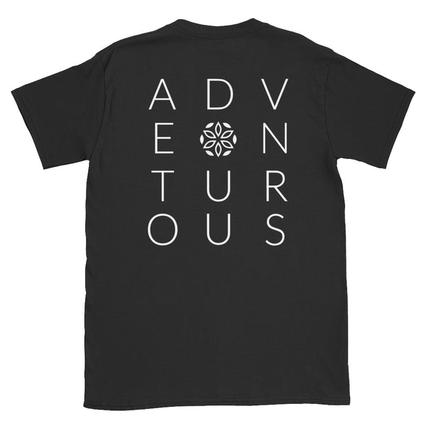 Adventurous Short-Sleeve T-Shirt - Black / White - L Y V E L Y - streetwear - activewear - lifestyle - inspirational - urban apparel - supply - casual