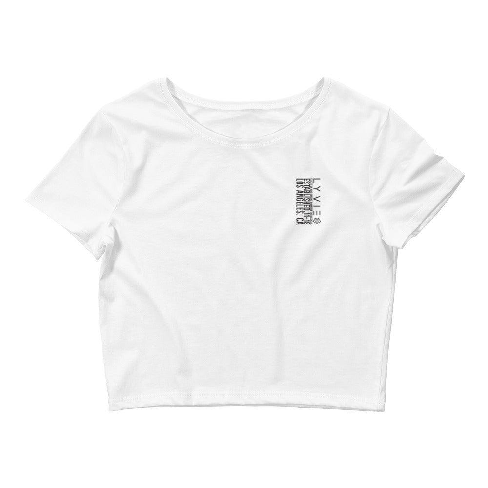 Execute On Your Dream Women's Crop Tee - White / Black