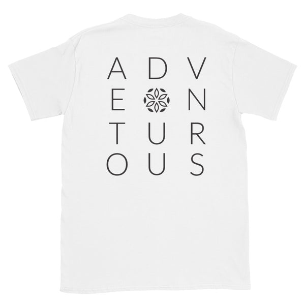 Adventurous Short-Sleeve T-Shirt - White / Black - L Y V E L Y - streetwear - activewear - lifestyle - inspirational - urban apparel - supply - casual